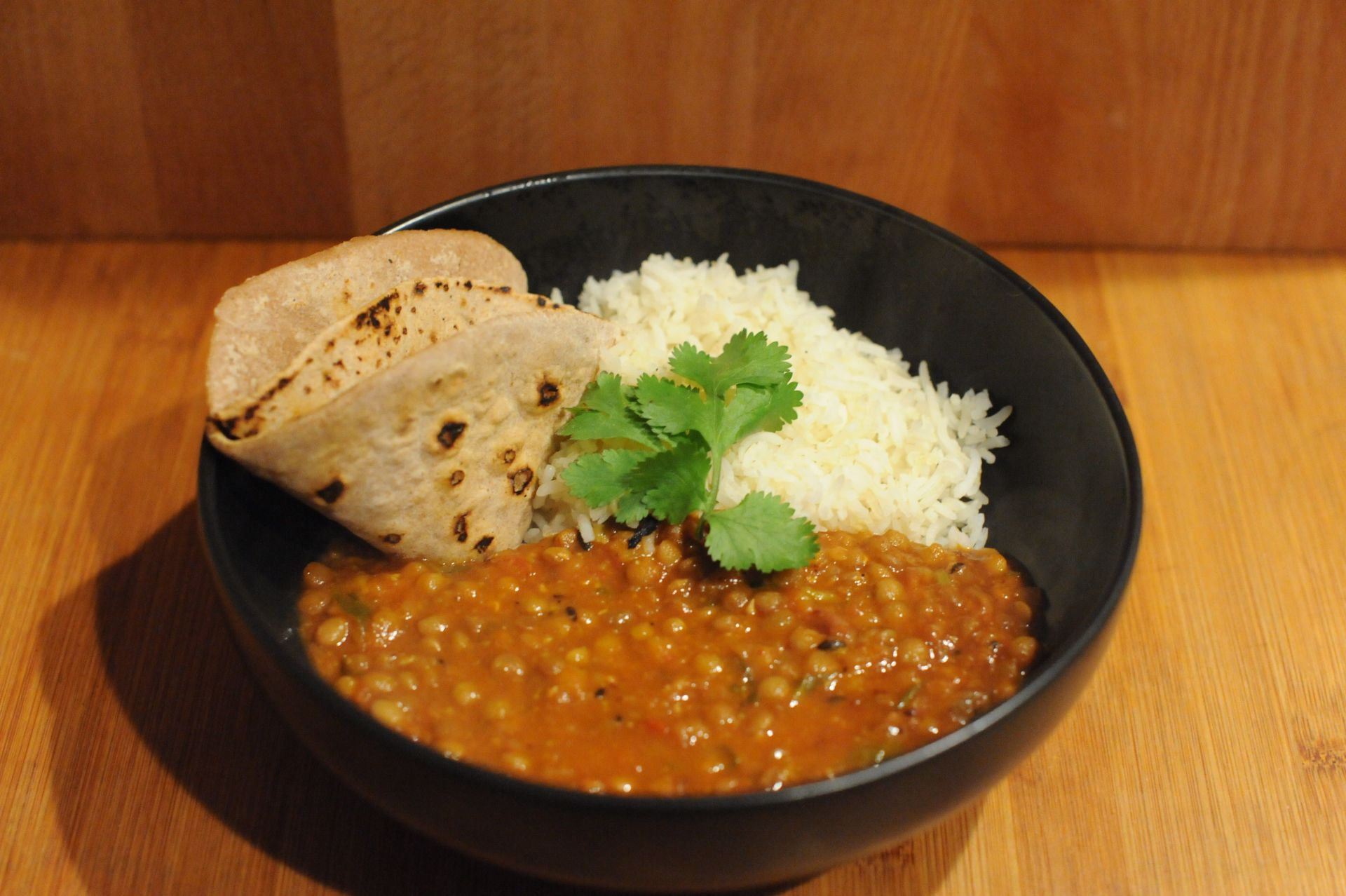 This Indian lentil curry recipe claims to be like at a restaurant, and it is!